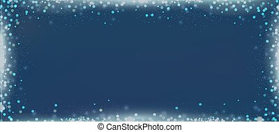 Elegant blue blog banner background with bokeh border -...