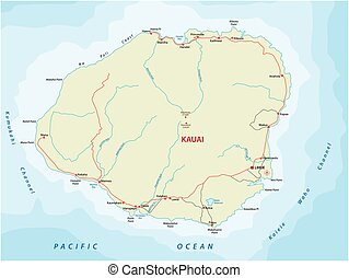kauai road map