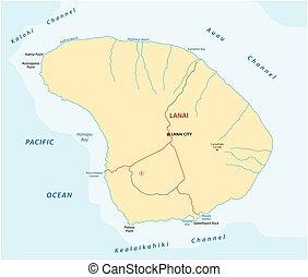 lanai road map