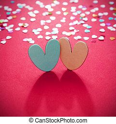 Valentines day with hearts background