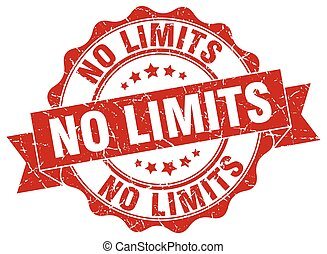 no limits stamp. sign. seal
