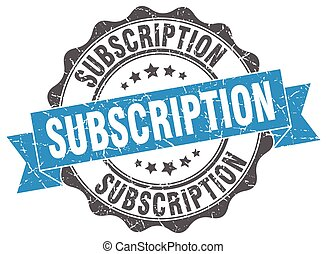 subscription stamp. sign. seal