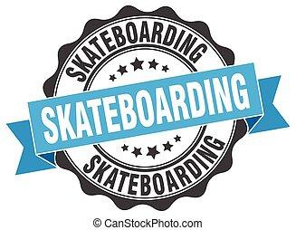 skateboarding stamp. sign. seal