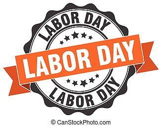 labor day stamp. sign. seal