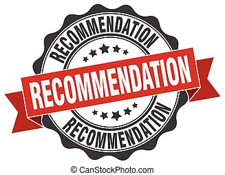 recommendation stamp. sign. seal