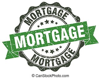 mortgage stamp. sign. seal