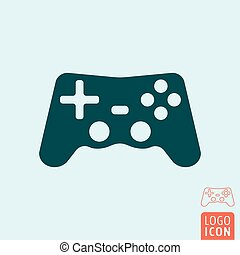 Gamepad icon isolated - Gamepad icon. Video game controller...