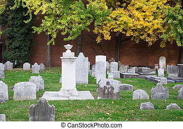 Christ Church Burial Ground - View of cemetery at historic...