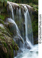 Marmore waterfalls in Terni, Umbria, Italy - Detail of...