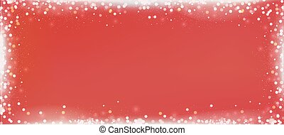 Christmas red blog banner background with bokeh border -...