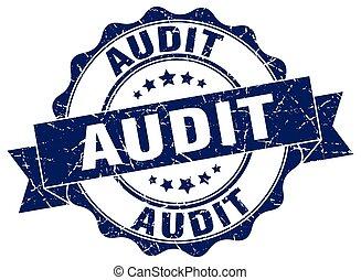 audit stamp. sign. seal