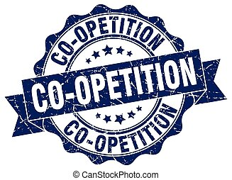 co-opetition stamp. sign. seal