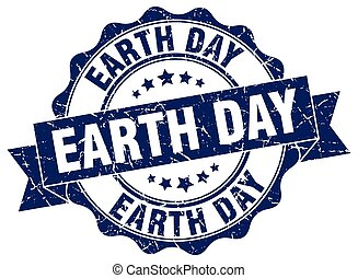 earth day stamp. sign. seal