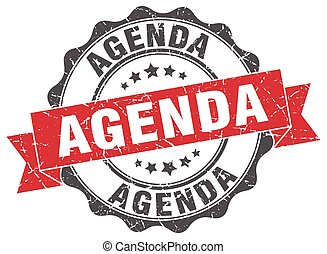 agenda stamp. sign. seal
