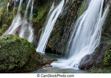 Marmore waterfalls near Terni, Umbria, Italy - Detail of...