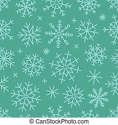 Different vector snowflakes seamless background. Vector ice...