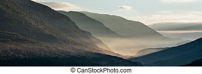 Abruzzo National Park, Italy - Sunrise at the Abruzzo...