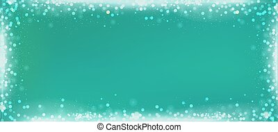 Christmas green blog banner background with bokeh border -...