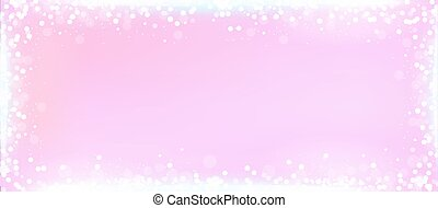 Pink blog banner background with bokeh border - Pink website...