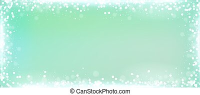 Mint green blog banner background with bokeh border - Mint...
