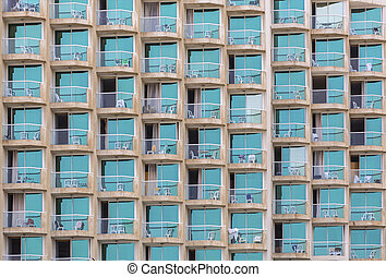 windows with balcon - modern architecture the windows with a...