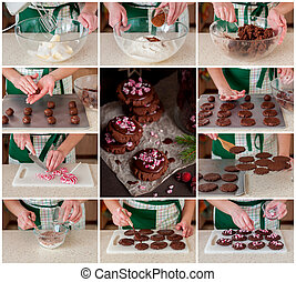 A Step by Step Collage of Making Christmas Cookies - A Step...