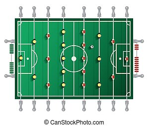 Table Football Vector Tabletop