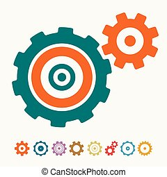 Retro Cogs - Gears Vector Icons