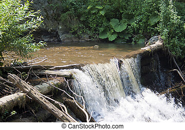 Waterfall 2 - The watermills of Valea Rudariei, District...