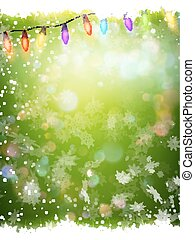 Christmas background with green template. EPS 10 - Christmas...