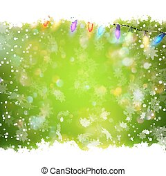 Christmas green background. EPS 10 vector file included