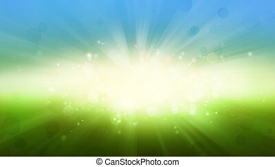 Blue green explosion background