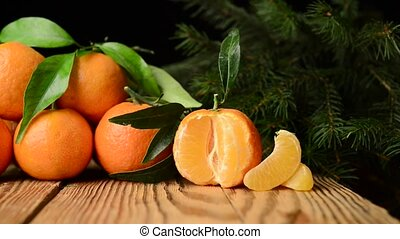 beautiful fruit tangerine