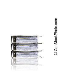 Folders on white