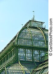 Palmenhaus roof, an old greenhouse in Wien