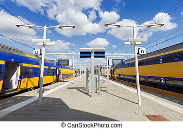 Intercity train Netherlands - Intercity train at Arnhem...