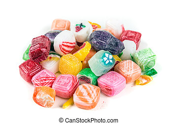Pile of Christmas Candy isolated on a white background