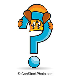 Cartoon character - question mark