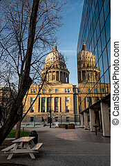 Morning light on the state Capital building - Idaho state...