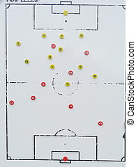 soccer tactics board and buttons