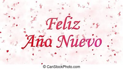 "Happy New Year text in Spanish ""Feliz ano nuevo"" formed from..."