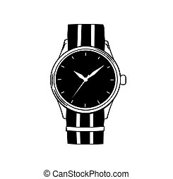 Hand watch icon. Vector illustration isolated on white
