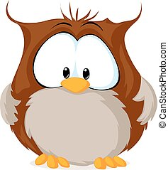 cute owl illustration isolated on white background - vector