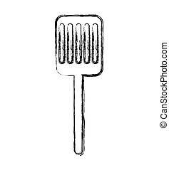 kitchen spatula isolated icon vector illustration design