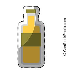 oil bottle isolated icon vector illustration design