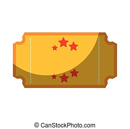 ticket circus isolated icon vector illustration design