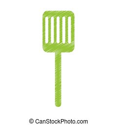 kitchen spatula isolated icon vector illustration design
