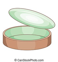 Empty tin can icon, cartoon style - Empty tin can icon....