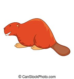 Beaver icon, cartoon style - Beaver icon. Cartoon...