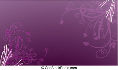 Purple swirls animation - purple flourishes animation in...